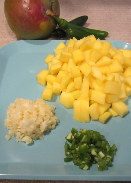 ingredients for mango sour