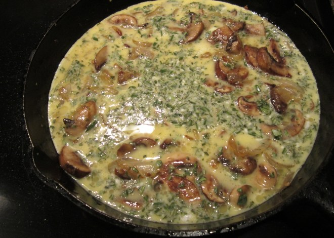 fritata before oven