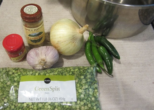 ingredients for Dahl