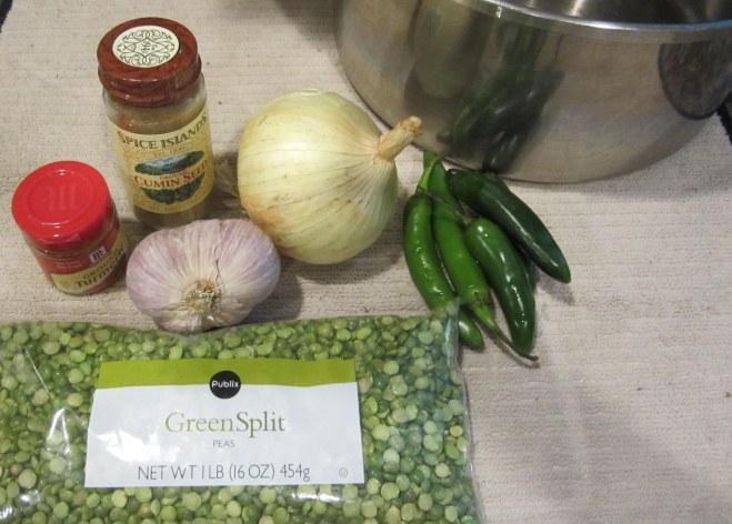ingredients for Dahl