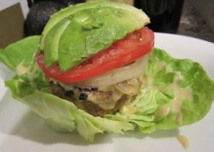open-face turkey burger