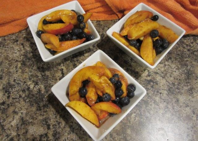 peaches in bowls
