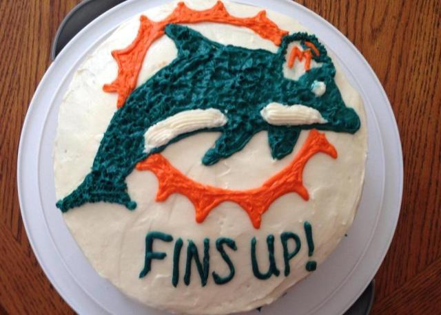 finished dolphin cake