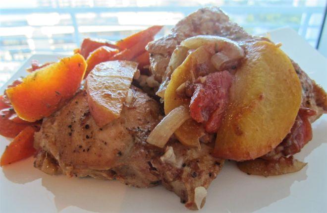 balsamic peach chicken3