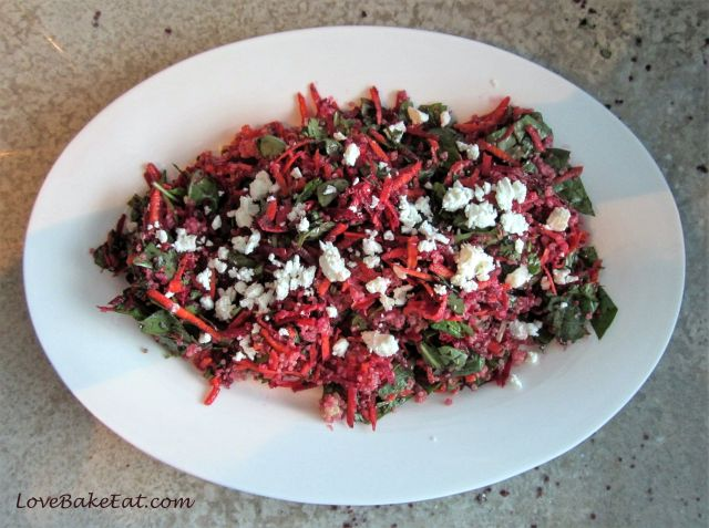 quinoa, spinach, and beet salad2