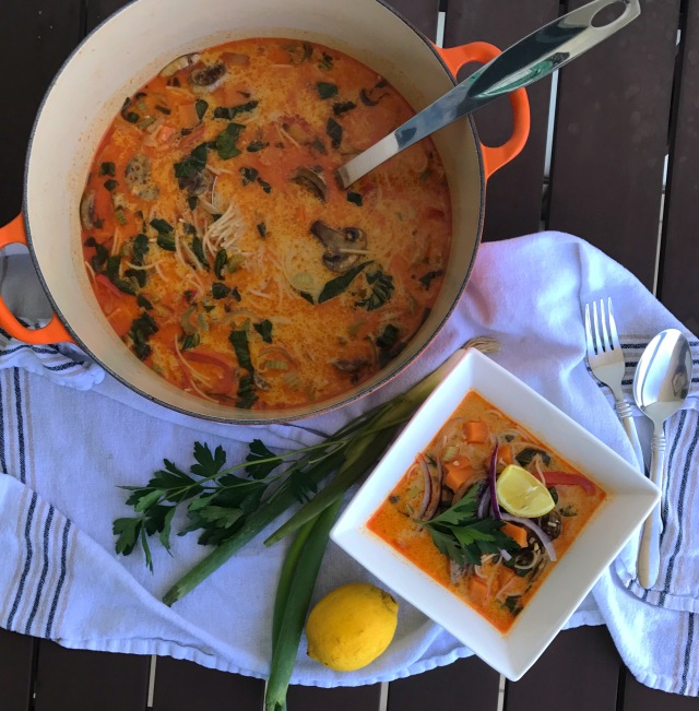 red curry thai soup