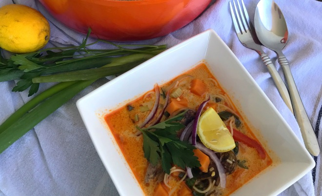 red curry thai soup2