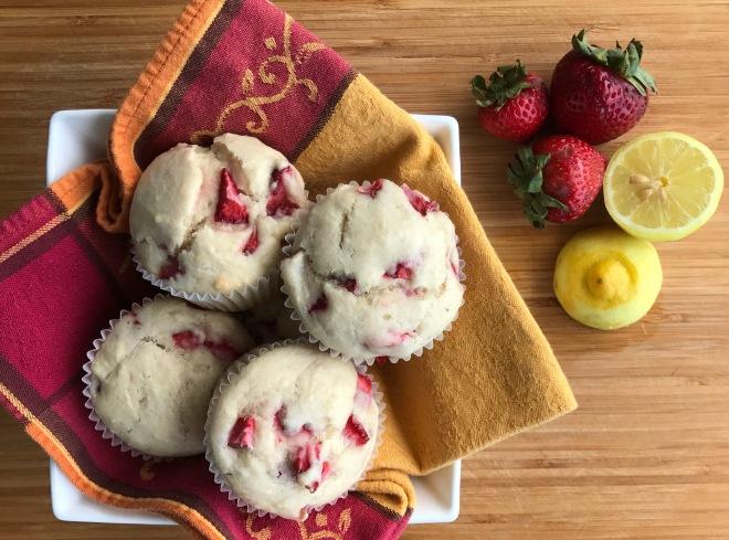 vegan strawberry muffins4