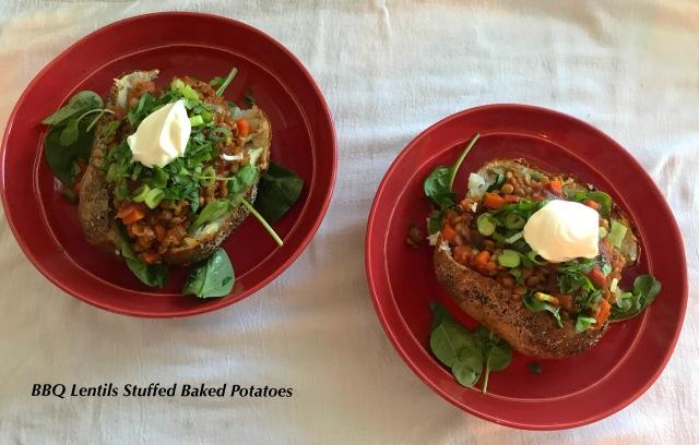 BBQ Lentils Potatoes