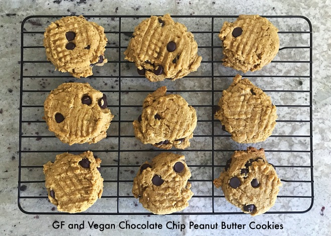 choc chip and peanut butter cookies