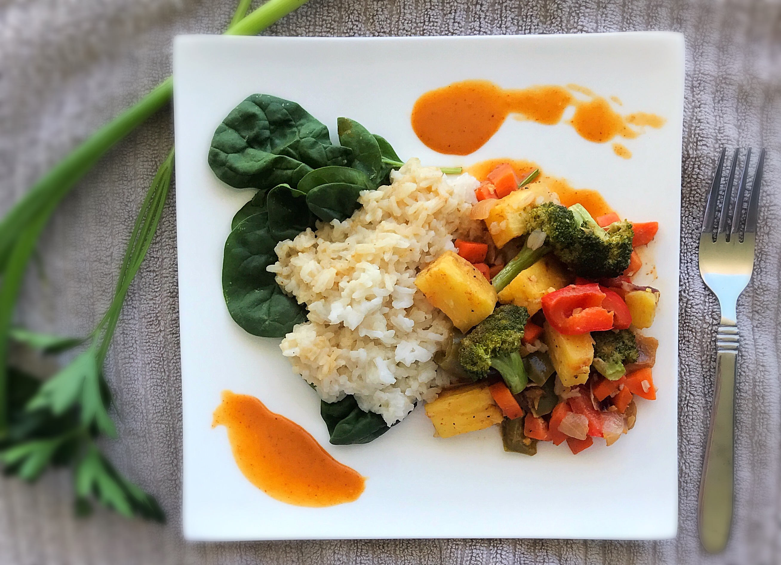 thai pineapple veg bowl3