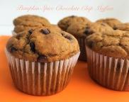 pumpkin choc chip muffin