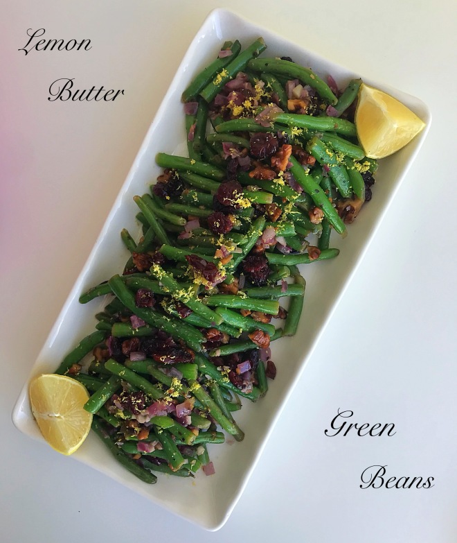 lemon butter green beans4